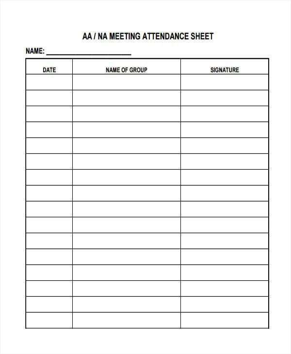 9+ Attendance Sheet Templates - Free Sample, Example, Format Download