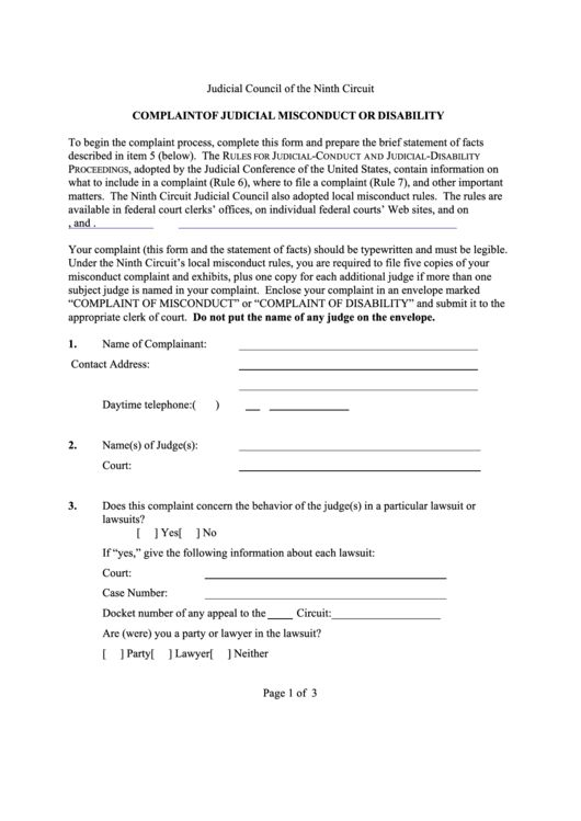 24 Judicial Council Forms And Templates free to download in PDF ...