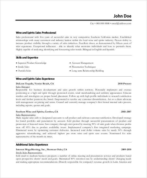Executive Resume. Sample Telecommunication Executive Resume 2 ...