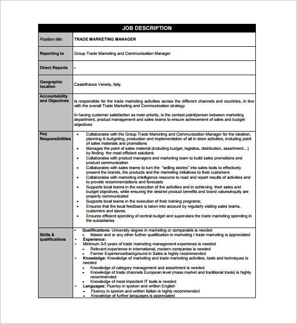 Communications Director Job Description. Job Description For ...