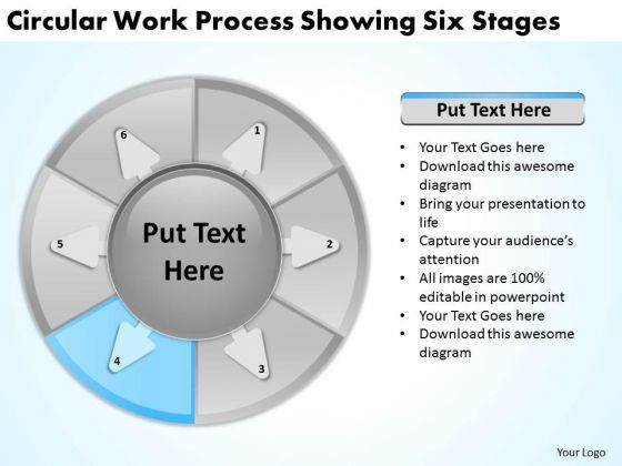 Work Process Showing Six Stages Executive Summary Example Business ...
