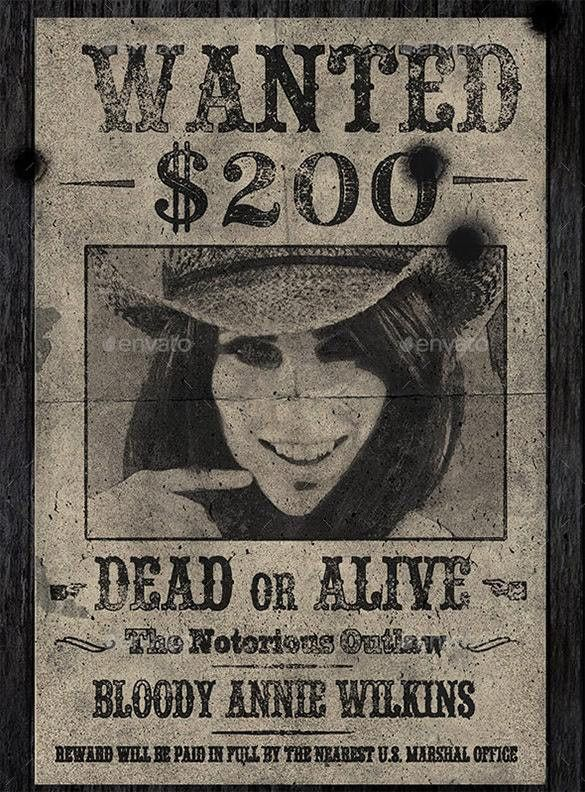 Modern Wanted Poster Western And Stunning Ideas Of 15 Old ...