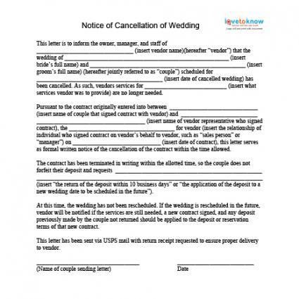 How to Cancel a Wedding
