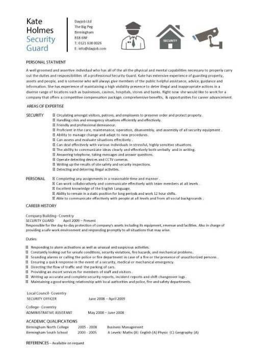 security guard cover letter, resume covering letter, text, font ...