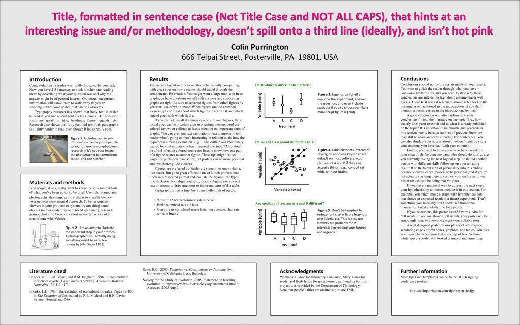 powerpoint template for scientific posters swarthmore college ...
