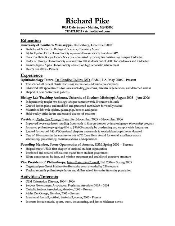 pre med resume sample urban pie sample resume of medical student