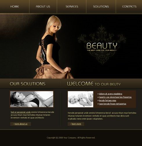 3592 - Flash - Beauty & Fashion - Flash Templates - DreamTemplate