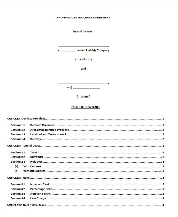 14+ Rental Lease Agreement – Free Sample, Example Format Download ...