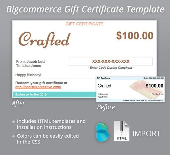 7+ Email Gift Certificate Templates – Free Sample, Example, Format ...