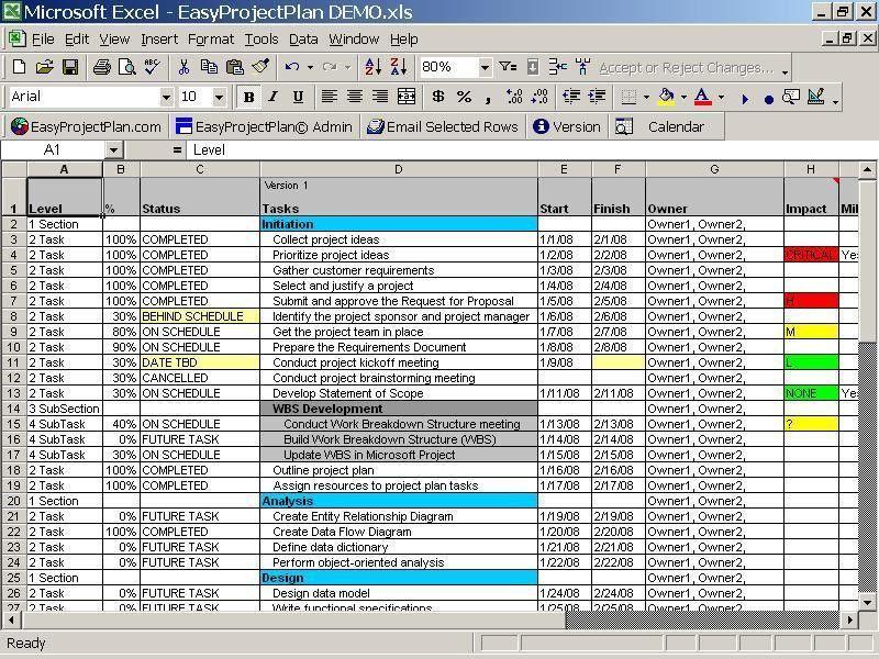 Excel Project Plan Template For Mac - Mediafoxstudio.com