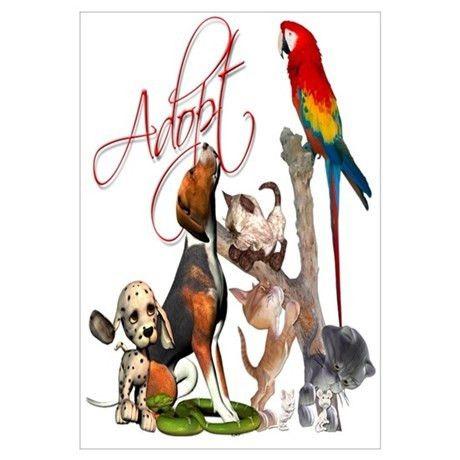 Pet Adoption Posters | Pet Adoption Prints & Poster Designs