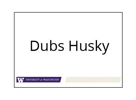 Name tag | UW Brand