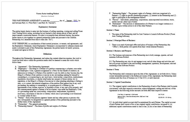 Business Contract Template Microsoft Word Templates : Selimtd