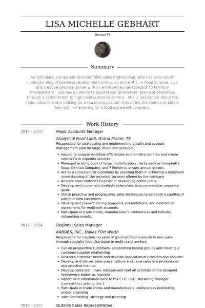 Accounts Manager Resume samples - VisualCV resume samples database
