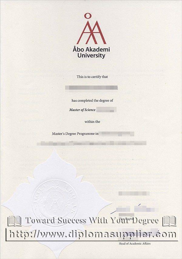 Buy fake diploma from Åbo Akademi University, Finland fake degree ...