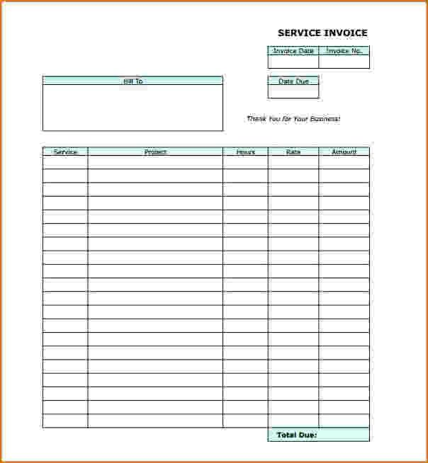 6+ blank invoice template pdf | teknoswitch