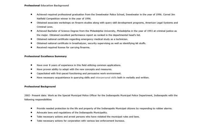 police officer resume cover letter Sample Resume Cover Letter For ...