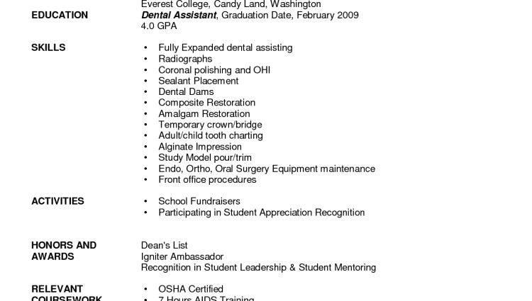 dental assistant resume template - Writing Resume Sample | Writing ...