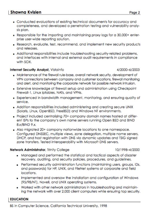 Resume For Security. download security guard resume. network ...