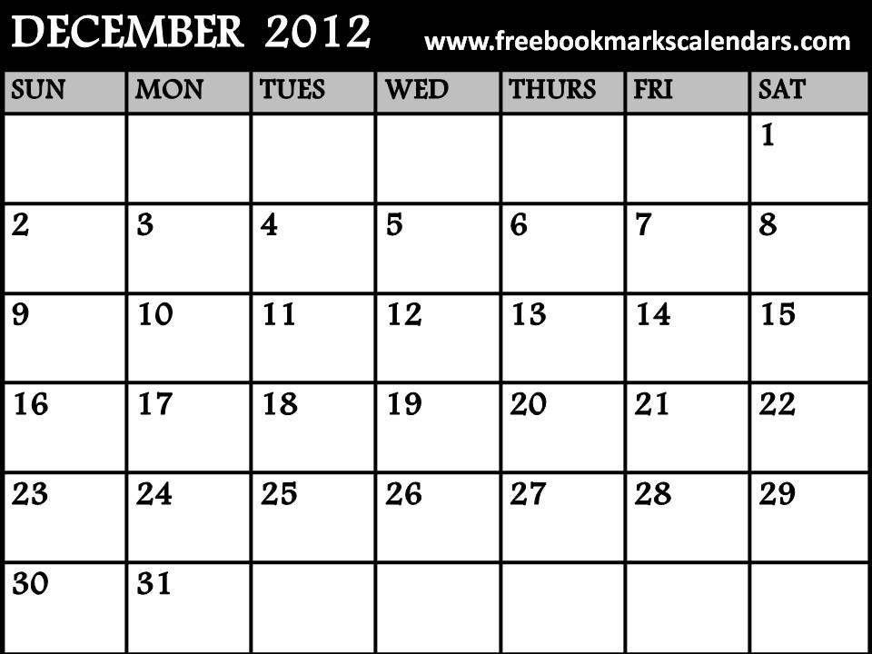 free printable calendar december 2012 | calendar 2012 | Pinterest ...