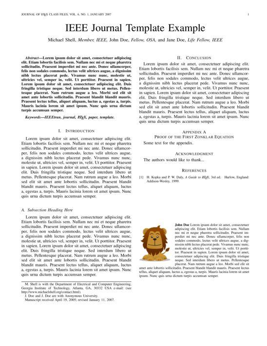 IEEE Journal - LaTeX Template - ShareLaTeX, Online LaTeX Editor