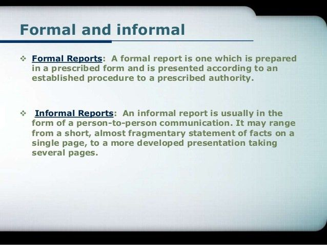 Report Writing  How To Write An Official Report Format