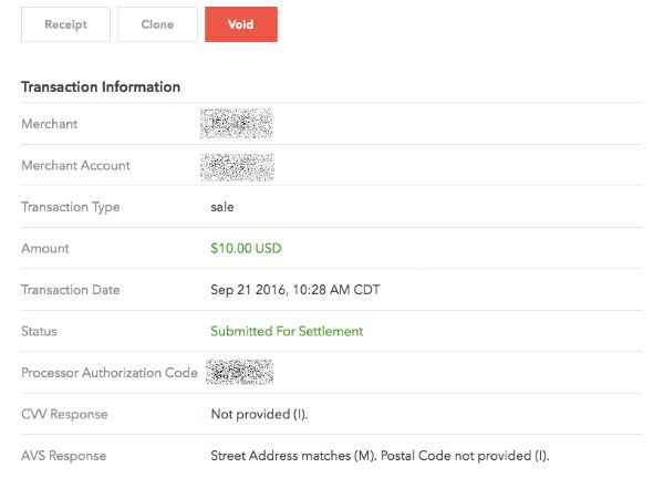 """Why are CVV and Postal Code shown as """"Not Provided"""" for recurring ..."""