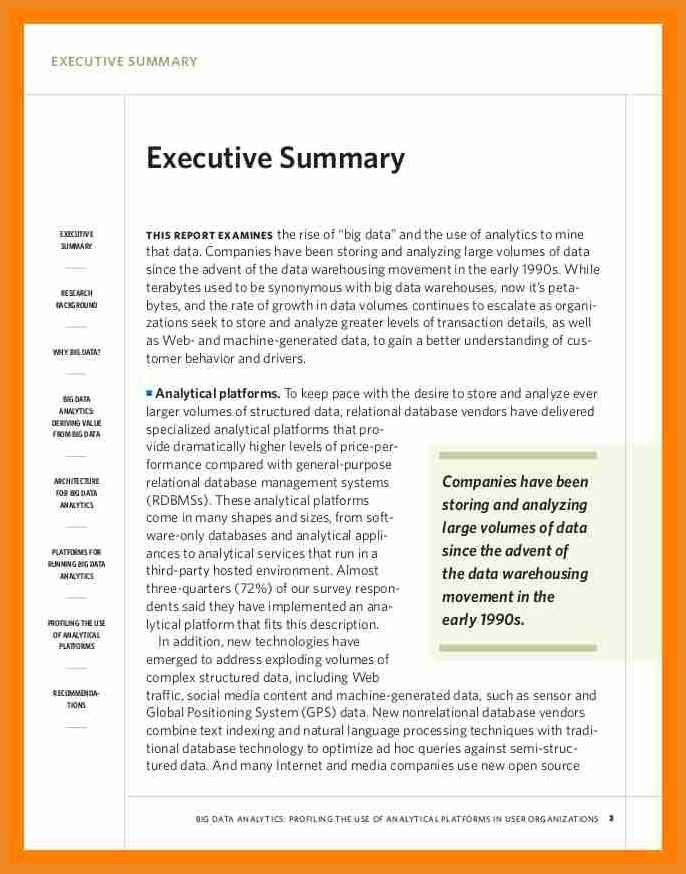 example executive summary | art resume examples