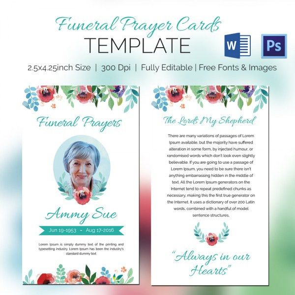 Prayer Card Template Free Small Prayer Card Template Vintage Church - Free printable funeral prayer card template