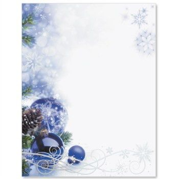 Sapphire Christmas Specialty Border Papers | Christmas border ...
