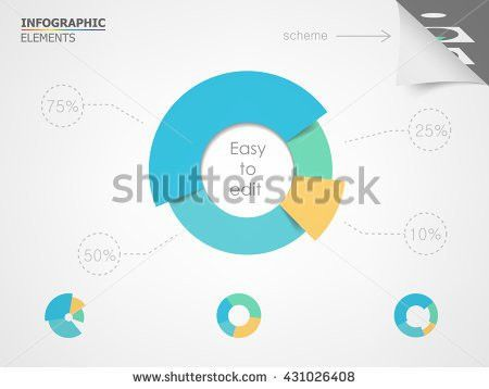 Pie Chart Elements Infographic Presentation Templates Stock Vector ...