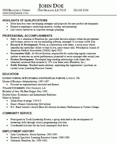 Download Types Of Resume | haadyaooverbayresort.com