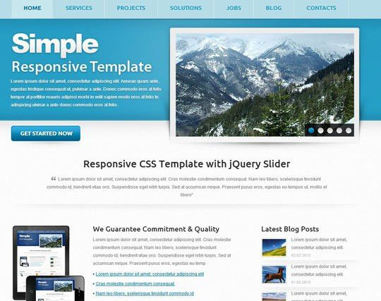 41 Totally Free Responsive HTML/CSS Website Templates | Designbeep