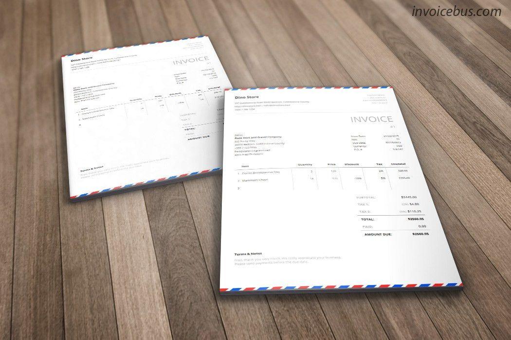 Envelope Invoice Template - Postal