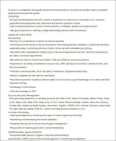 Sample HR Executive Resume - 7+ Examples in Word, PDF