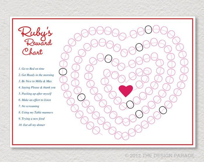 PRINTABLE Reward Chart for Boy or Girl Sticker by TheDesignParade ...