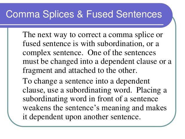 Comma splices tbh 14
