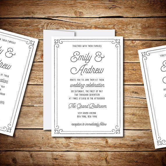 60 best Wedding Invitation Templates images on Pinterest | Wedding ...