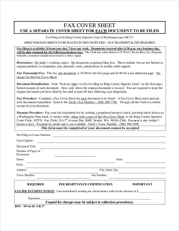 Generic Fax Cover Sheets. Sample Printable Confidential Fax Cover ...
