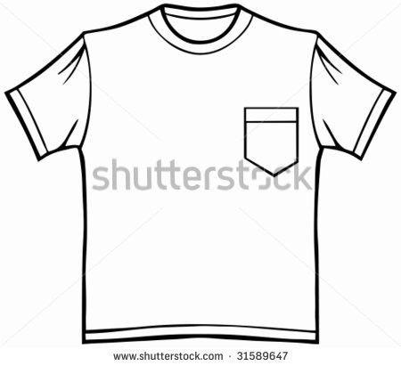 Pocket T Shirt Line Art Shirt Stock Vector 31589647 - Shutterstock