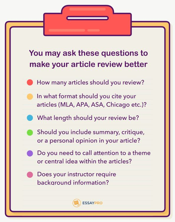 How to Write an Article Review: Writing Process |EssayPro