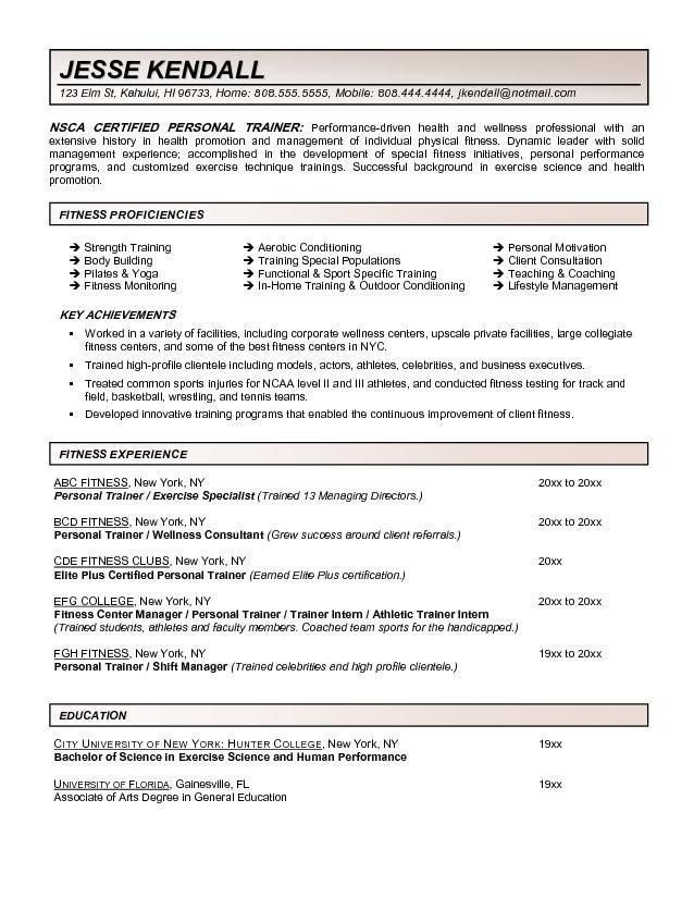 fitness instructor resumesample resume group fitness instructor ...