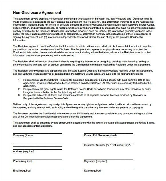 Non Disclosure Agreement - 8+ Documents in PDF, Word