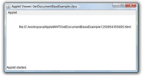 Get Applet's Document URL or Directory Base Example | Java ...