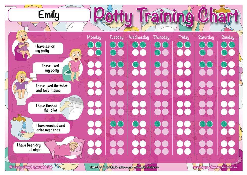 Girls Potty Toilet Training Chart Personalised