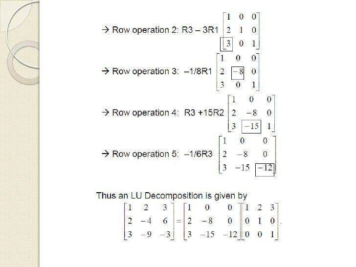 Chapter 4: Linear Algebraic Equations