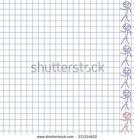 White Wrinkled Piece Lined School Paper Stock Illustration ...