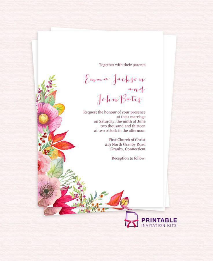 210 best Wedding Invitation Templates (free) images on Pinterest ...