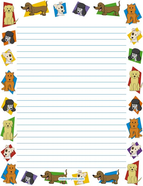 Dog Stationery and Writing Paper | Print And Have Fun! | Pinterest ...