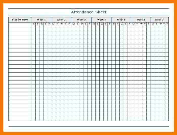 7+ blank attendance sheets | mailroom clerk